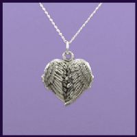Angel Wing Heart Locket